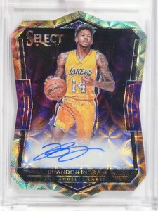 2016-17 Panini Select Diecut Scope Brandon Ingram autograph auto #D37/49 *68376