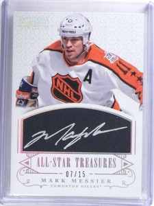 2013-14 National Treasures All-Star Mark Messier autograph auto #D07/15  *68350