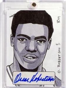 2015 Leaf Sports Masterworks Oscar Robertson autograph auto sketch 1/1 *48301