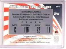 2002 Topps Super Bowl Tix XXXVI Torry Holt #SBT8 *68550