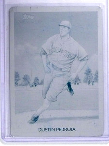 2010 Topps National Chicle Dustin Pedroia Cyan Printing Plate #D 1/1 *68649