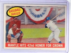 1959 Topps Baseball Thrills Mickey Mantle #461 VG *68678