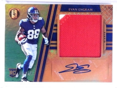 2017 Panini Gold Standard Evan Engram autograph patch rc #D09/25 #310 *68744