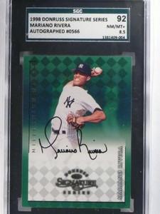 1998 Donruss Signature Series Mariano Rivera autograph auto SGC 92 *68817