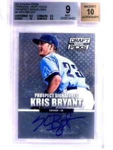 2013 Panini Prizm Draft Kris Bryant autograph auto rc rookie #6 BGS 9 *68821