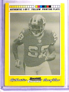 2007 Bowman Chrome Antwaan Randle El Yellow Printing Plate #D 1/1 *68975