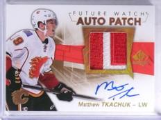 2016-17 Sp Authentic Matthew Tkachuk autograph patch rc #D45/100 #150 *68873