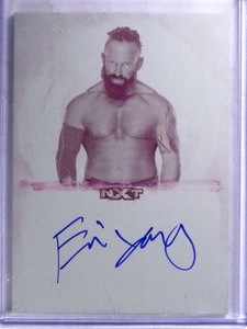 2017 Topps WWE Undisputed NXT Eric Young autograph Printing Plate 1/1 *68871