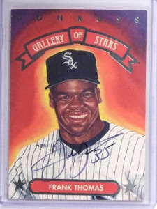 1992 Donruss Triple Play Gallery of Stars Frank Thomas Autograph w/ COA *60707