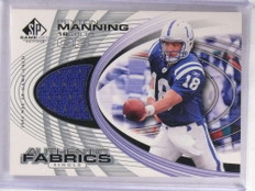 2004 Sp Game Used Authentic Fabrics Peyton Manning jersey #AF-PM *69091