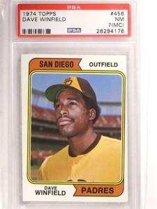 1974 Topps Dave Winfield rc rookie #456 PSA 7 MC  *69211