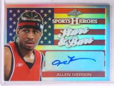 2017 Leaf Sports Heroes Stars Bars Allen Iverson autograph auto #SB-AI1 *69268