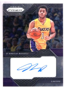 2016-17 Panini Prizm D'Angelo Russell autograph auto #12 *69297