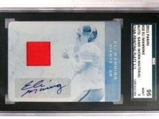 2011 Panini Plates Patches Eli Manning autograph auto patch #D 1/1 *69198