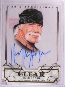 2016 Leaf Sportkings Clear Hulk Hogan autograph auto #SK-HH1 *69272