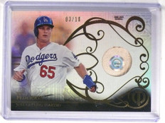 2015 Topps Tribute Milestone Joc Pederson rookie game used ball #D03/10 *51723