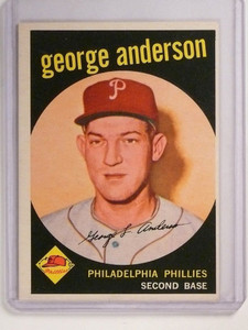 1959 Topps George Sparky Anderson rc rookie #338 EX *51825