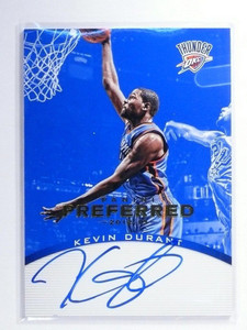 12-13 Panini Preferred Blue Kevin Durant autograph auto #D48/49 #166 *47794