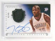 13-14 National Treasures Legacies Kevin Durant autograph auto jersey #D42/49 *44
