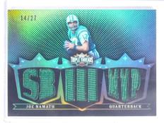 2007 Topps Triple Threads Joe Namath Jersey #D14/27 #TTR41 *64072