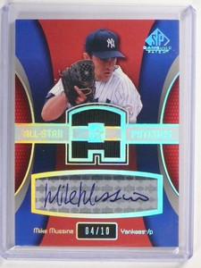 2004 Sp Game Used All-Star Patches Mike Mussina autograph auto #D04/10 *51706