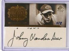 2005 Sp Legendary Cuts Battery Johnny Vander Meer auto autograph #D5/8 *37513