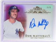 2013 Topps Tribute Red Don Mattingly autograph auto #D2/5 #TA-DMA *49290