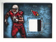 2012 Topps Inception Michael Floyd rc rookie 3 color patch #D42/75 *35139