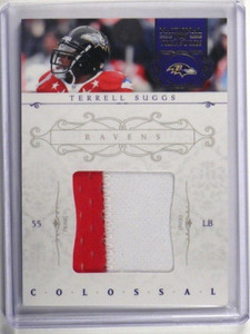 2011 National treasures Colossal Terrell Suggs 2 color patch #D25/49 #38 *34762