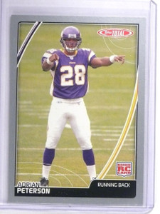 2007 Topps Total Silver Adrian Peterson Rookie RC #456 *64502