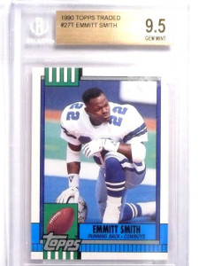 1990 Topps Traded Emmit Smith rc rookie #27 BGS 9.5 GEM MINT *63831