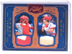 2016 Panini Prime Cuts Gold Johnny Bench Pete Rose Bat Patch #D10/10 #CPMBR *603