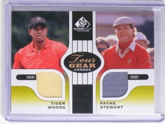 2012 UD SP Game Used Golf Tour Gear Payne Stewart Tiger Woods Shirt #TG2WS *6570