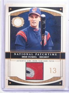 2003 Fleer Patchworks National Patchtime Omar Vizquel Patch #D04/100 #OVNP *5979