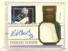 11-12 Dominion Peerless Patches Niklas Backstrom autograph auto patch #D07/40 *4