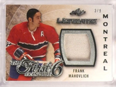 2015-16 Leaf Ultimate First 6 Franchise Frank Mahovlich jersey #D3/9 *53263