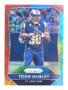 2015 Panini Prizm Prizms Tie Dye Refractor Todd Gurley Rookie #D24/25 #291 *6060