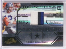 2008 Playoff Absolute Tools Of Trade Roger Staubach 3clr patch #D14/15 *55295
