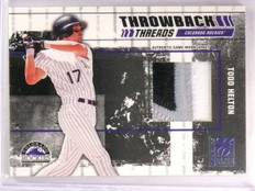 2003 Donruss Elite Todd Helton Throwback Threads Jersey Patch #D24/25 #TT40 *555