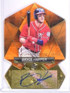 2014 Topps Supreme Styling Bryce Harper autograph auto #D12/15 #SS-BH *56328