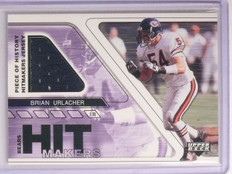 2002 UD Piece of History Hitmakers Brian Urlacher Jersey #HMJBU sp! *67043