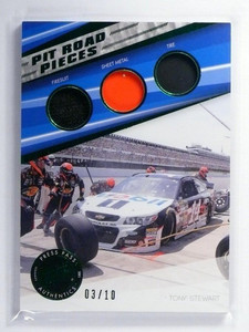 2015 Press Pass Pit Road Pieces Tony Stewart Firesuit sheetl metal tire #D3/10 *