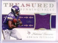 2015 National Treasures Adrian Peterson Treasured Jersey #D02/25 #TRBAP *55394