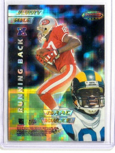 1996 Bowman's Best Atomic Refractor Jerry Rice Bruce Brown Galloway #7 *42089