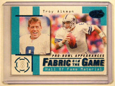 1999 Leaf Certified Fabric Of The Game Troy Aikman #D81/250 #FG6 *41612