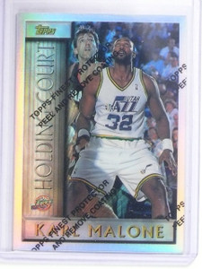 1996-97 Topps Holding Court Refractor Karl Malone #HC15 *64581