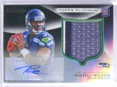 2012 Topps Platinum Russell Wilson Rookie Patch Autograph #D085/125 #138 *65675