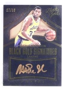 2015-16 Panini Black Gold Signatures Magic Johnson autograph auto #D27/60 *56393