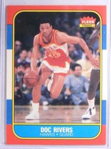 1986-87 Fleer Doc Rivers Rookie RC #91 *65997