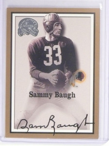 2000 Fleer Greats Of The Game Sammy Baugh autograph auto *56376